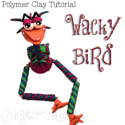 Polymer Clay WaCkY BiRd Tutorial by KatersAcres