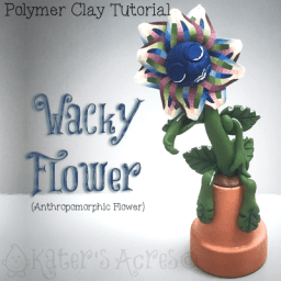 Polymer Clay WaCkY FLoWeR Tutorial by KatersAcres