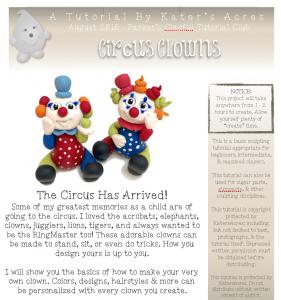 Polymer Clay Circus Clown Tutorial PDF PREVIEW