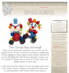 Polymer Clay Circus Clown Tutorial PDF PREVIEW