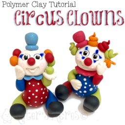 Polymer Clay Circus Clown Tutorial by KatersAcres