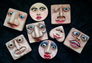 Morton's Friends Face Boxes by Bettir Griffin