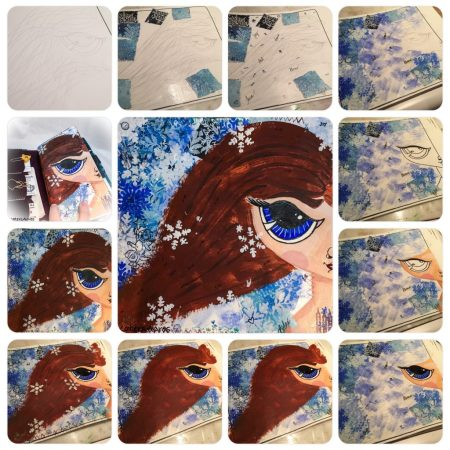 Winter Wonderland Snow Girl Midori Dashboard by KatersAcres | WIP Wednesday