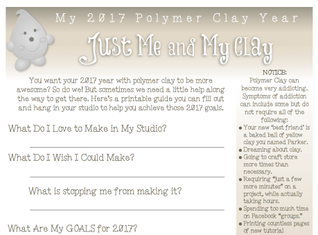 2017 Polymer Clay Challenge Worksheet