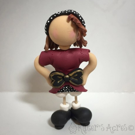 Polymer Clay Toothpick Kids Tutorial, JANE by KatersAcres