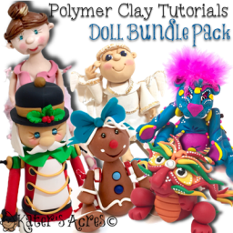 Polymer Clay DOLL Tutorial Bundle Pack by KatersAcres