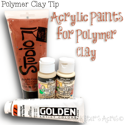 Acrylic Paints for Polymer Clay | My favorite acrylics to use with polymer clay - CLICK to read the article now