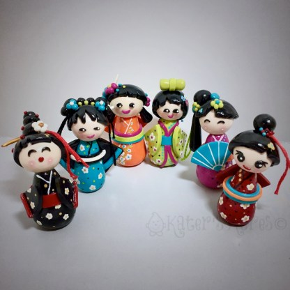 Polymer Clay KOKESHI DOLLS Tutorial by KatersAcres | CLICK to get the tutorial!
