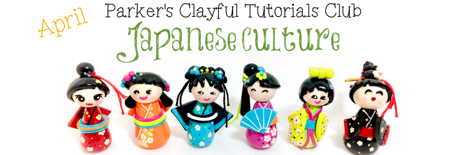 how to make a kokeshi doll out of clay