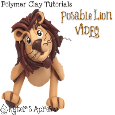 Polymer Clay Posable Lion Video Tutorial by KatersAcres