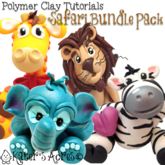 Polymer Clay Safari Tutorials by KatersAcres