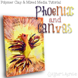 PHOENIX Mixed Media Canvas Tutorial by KatersAcres