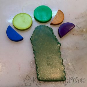 Dark Green Shimmer Premo! Polymer Clay Color Recipe by KatersAcres