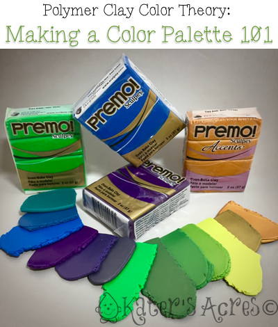 Learn How to Make a Color Palette in Polymer Clay by Katie Oskin