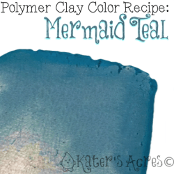 Polymer Clay Color Recipe for Mermaid Teal by KatersAcres