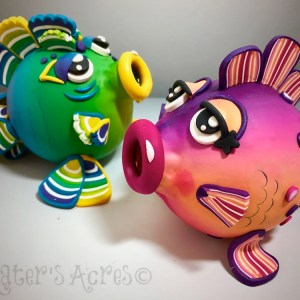 Puffed Fish Duo by Katie Oskin