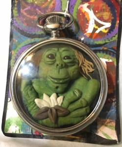 greenie pocket watch by Amy Hucks