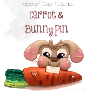 WSTC Bunny PIN Polymer Clay Tutorial by KatersAcres