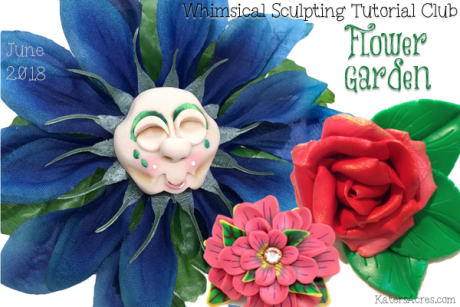 Flower Garden Bundle Pack of Polymer Clay Tutorials by KatersAcres