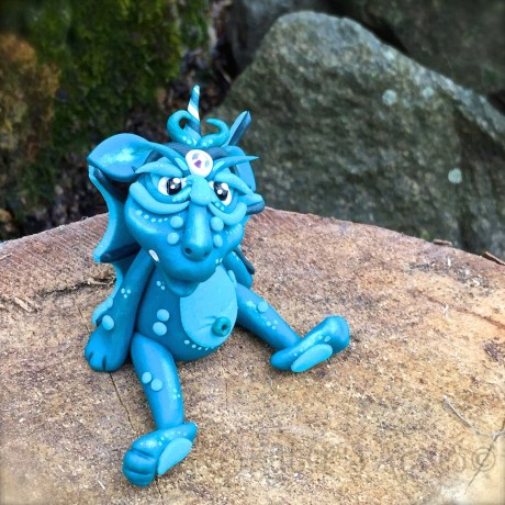 Teak Polymer Clay Dragon Forest by KatersAcres