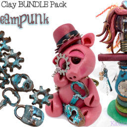 Polymer Clay STEAMPUNK BUNDLE Pack by KatersAcres