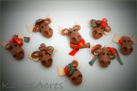 Moose Ornaments from Kater's Acres