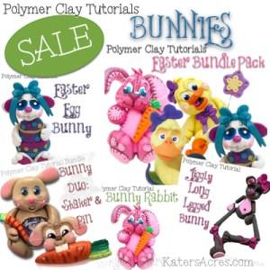Polymer Clay BUNNIES Tutorials Sale