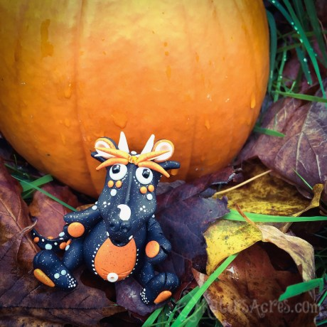 Hallow S Eve Polymer Clay Dragon by KatersAcres