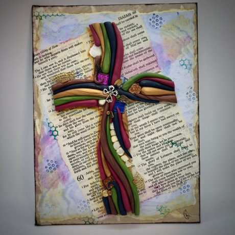Joseph's Coat of Many Colors Cross by Katie Oskin