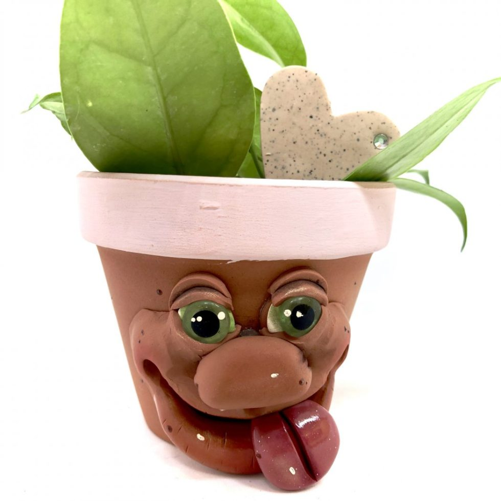 Tongue Sprouting Schrume Planter Pot by Kater's Acres