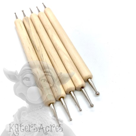 Double Ended Wooden Ball Tools from Kater's Acres