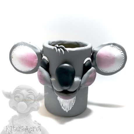 Polymer Clay Koala Bear Pencil Cup Tutorial by KatersAcres