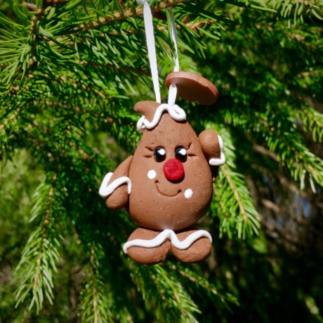 Gingerbread Parker Ornament by KatersAcres