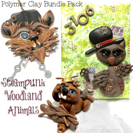 Steampunk Woodland Animals BUNDLE Pack by Kater's Acres