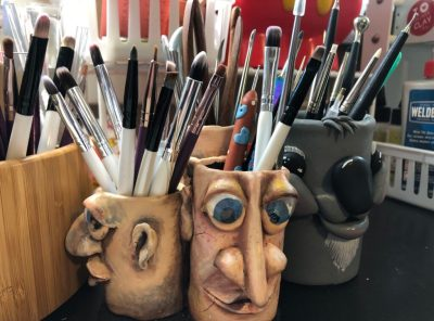 Koala and Face Tool Holders by Katie Oskin