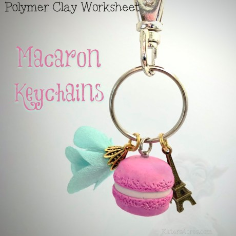 Polymer Clay Macaron Keychain Worksheet by KatersAcres