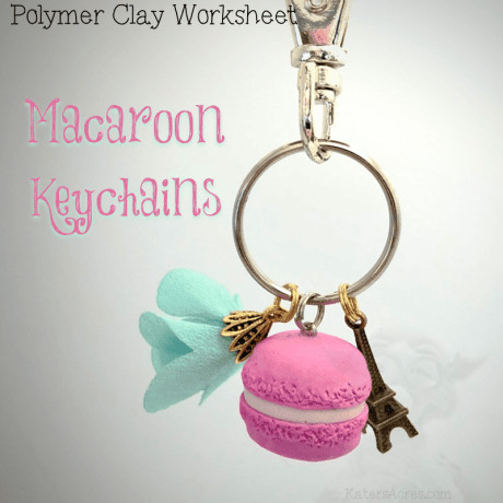 Polymer Clay Macaroon Keychain Worksheet by KatersAcres