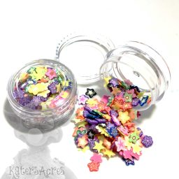 Millefiori Flower Cane, Star Shaped Slices - 3g Small Jar