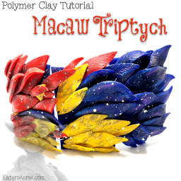 Macaw Triptych Tutorial by Kater's Acres