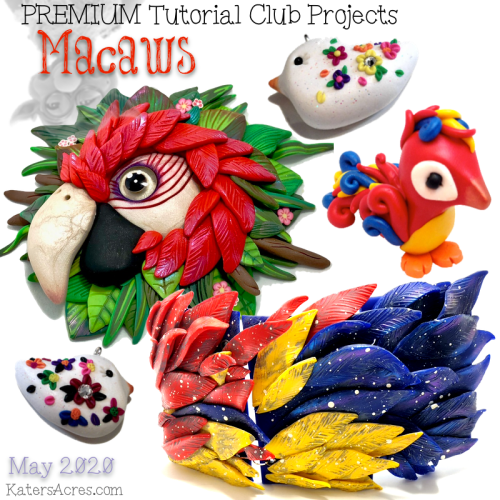 Whimsical Sculpting Tutorials CLUB - Macaws - May 2020 PREMIUM