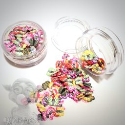Millefiori BRIGHT BUTTERFLY Cane Slices - 3g Small Jar