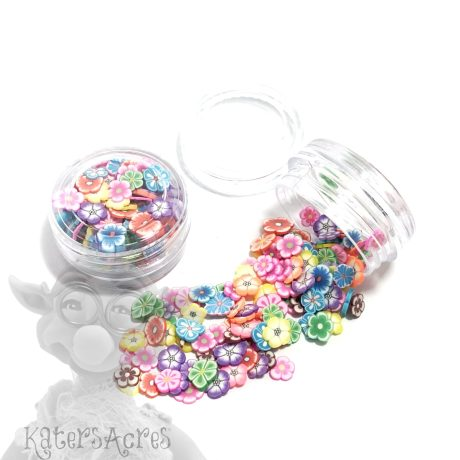 Millefiori Bright Flower Cane Slices - 3g Small Jar from Kater's Acres