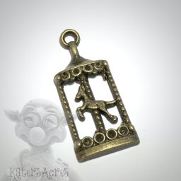 Brass Carousel Charm from Kater's Acres