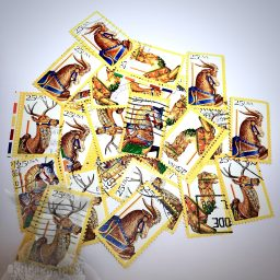 Carousel Horse Canceled Stamp for Mixed Media or Polymer Clay Work from Kater's Acres