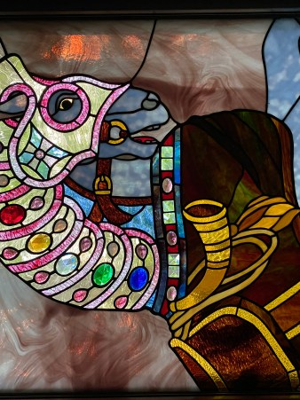 Carousel Stained Glass Window by my Mom, Diane Dillon