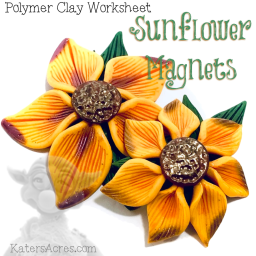 Polymer Clay SUNFLOWER Tutorial by KatersAcres