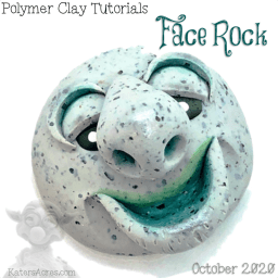 Polymer Clay ROCK FACES Tutorial by KatersAcres