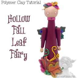 Hollow Fall Leaf Fairy Polymer Clay Tutorial by Kater's Acres