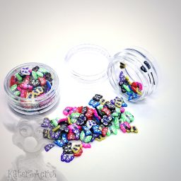 Millefiori Pretty BUTTERFLY Cane Slices - 3g Small Jar
