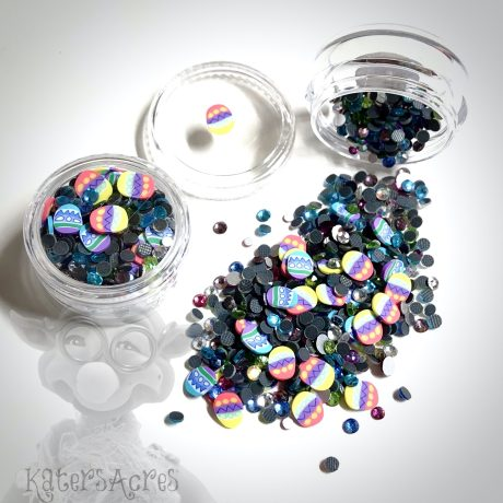 Easter Egg Crystals & Millefiori Slices Mini Jar from Kater's Acres